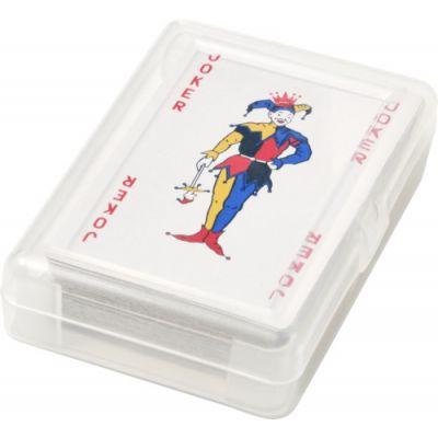 Kartenspiel 'Ace' in transparenter PET Box rot - G854608