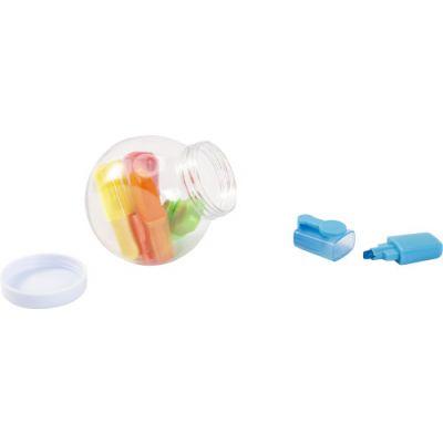 Textmarker 'Sweets' im Glas mit Deckel bunt - G856209