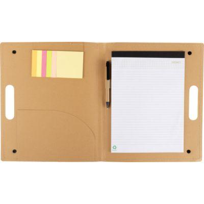 Schreibmappe 'Poet' aus Karton braun - G856911