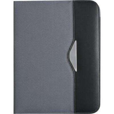 Dokumentenmappe 'Diplomat' aus Polyester/Kunstleder grau - 866803