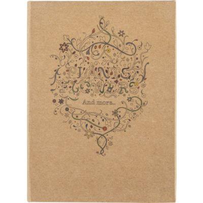 Malbuch 'Floral' für Erwachsene braun - G867011