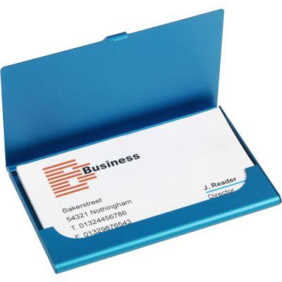 Visitenkartenetui 'Maps' blau - 8766