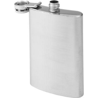 Flachmann 'Ski' aus Stahl (100 ml) silber - G890932