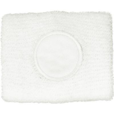 Schweißarmband aus 100 % Baumwolle weiß - 907802
