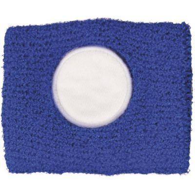 Schweißarmband aus 100 % Baumwolle blau - 9078