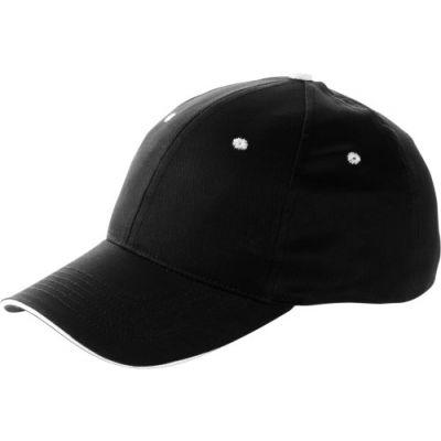 Baseball-Cap 'Chicago' aus Baumwolle schwarz - 912001