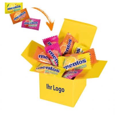 Werbegeschenk Color Mentos Box Gelb (WH0003304)