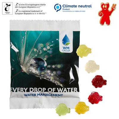 Fruchtgummi-Standardformen 20 g im kompostierbaren Tütchen