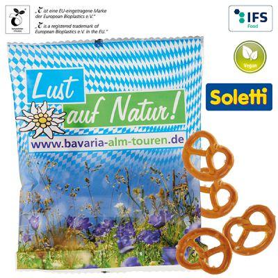 Mini Brezeln im kompostierbaren Tütchen