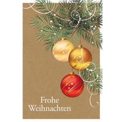 Weihnachtsspendenkarte