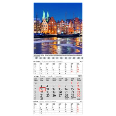 Deutschland-Faltkalender