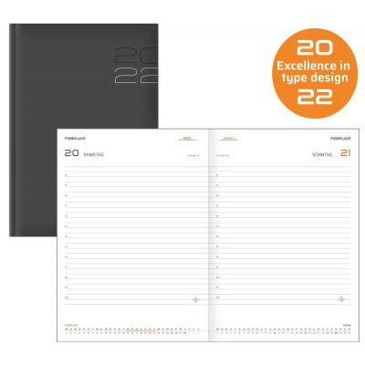 Terminkalender, Buchkalender 400 Seiten, A5,grau