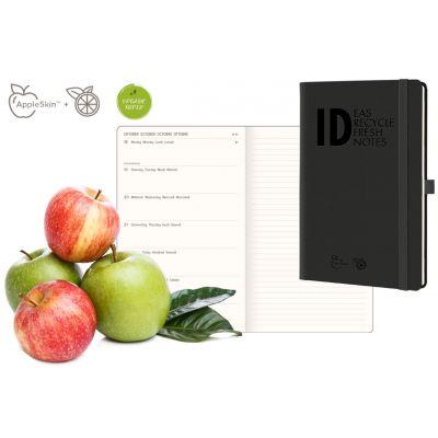 Palm Eco Wochenkalender mit Notizen, A5, kariert, Black Apple