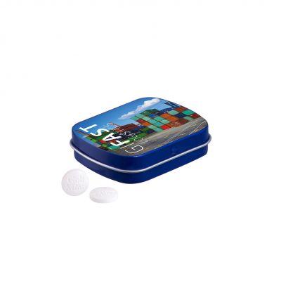 Klappdeckeldose Golf Minze blau incl. 4c Druck LL0012406