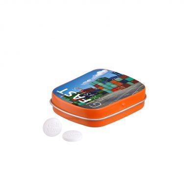 Klappdeckeldose Golf Minze orange incl. 4c Druck LL0012413