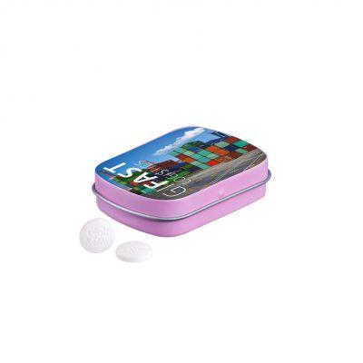 Klappdeckeldose Golf Minze rosa incl. 4c Druck LL0012419