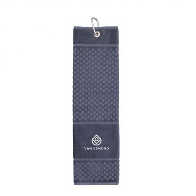 Golfhandtuch Luxury dunkelgrau incl. 4c Druck LL0022303