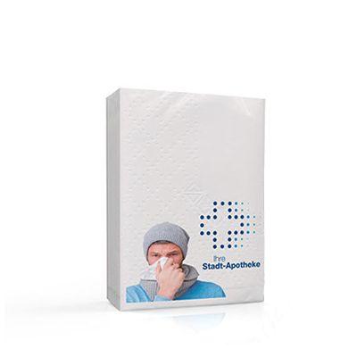 Papiertaschentücher MINI inkl. 1-seitigem Druck