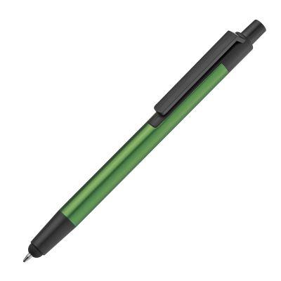 Kugelschreiber aus Metall mit Touchfunktion grün
