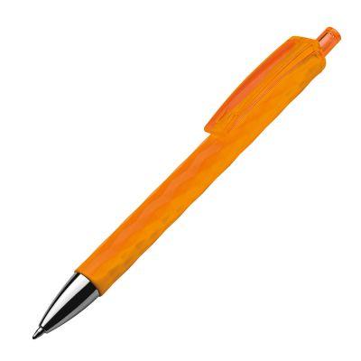 Kugelschreiber aus Kunststoff mit gemustertem Schaft orange