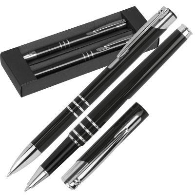 Schreibset bestehend aus einem Kugelschreiber und einem Rollerball