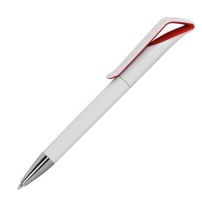 Kugelschreiber aus Kunststoff rot