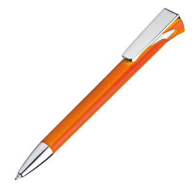 Kugelschreiber aus Kunststoff mit großem Clip orange