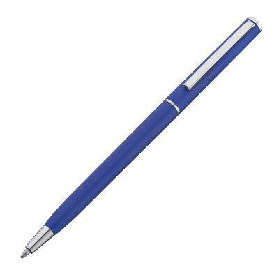 Kugelschreiber in schlanker Form aus Kunststoff blau