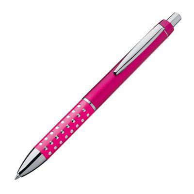 Kugelschreiber mit glitzernder Griffzone pink