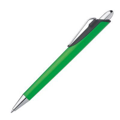 Kugelschreiber mit Metallclip grün
