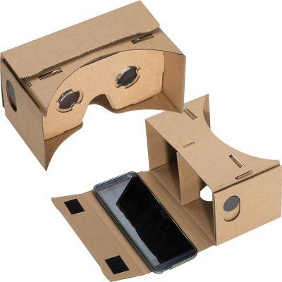 VR Brille aus Karton braun