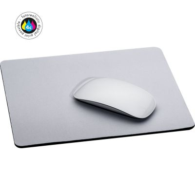 Mousepad aus Kautschuk, vollflächig bedruckbar weiß