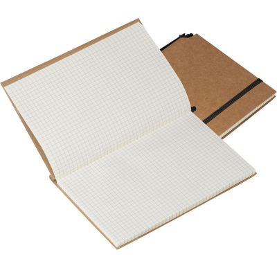 Notizbuch mit umweltfreundlichem Umschlag braun