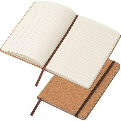 A5 Notizbuch mit Korkeinband und linierten Seiten beige
