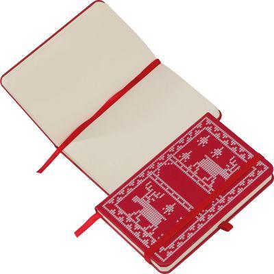 A6 Notizbuch mit PU Weihnachtsmotiv-Umschlag bunt