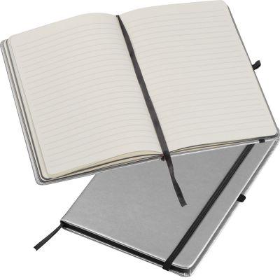 A5 Notizbuch in metallic Farben silber