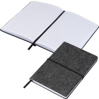 Notizbuch aus Filz A5 grau