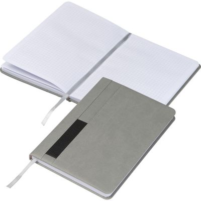 Notizbuch mit Steckfach A5 grau