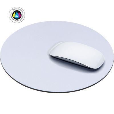 Rundes, bedruckbares Mousepad weiß