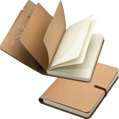 Notizbuch mitGummiband und 240 linierten Seiten braun