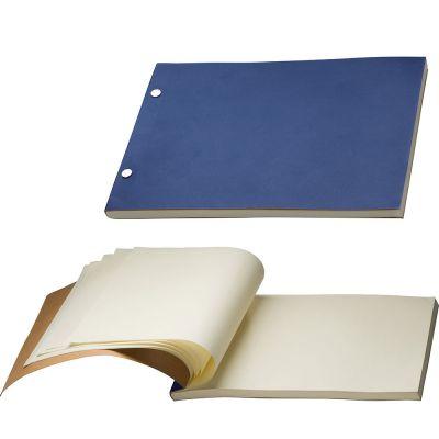 Notizbuch mit Pappeinband blau