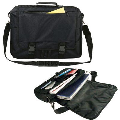 Laptoptasche aus Polyester schwarz
