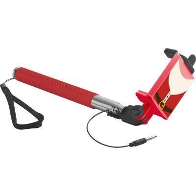 Selfie Stick mit Teleskopstab und integriertem Auslöser rot