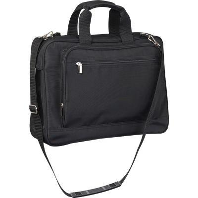 Businesstasche aus Mikrofaser mit Laptopfach schwarz