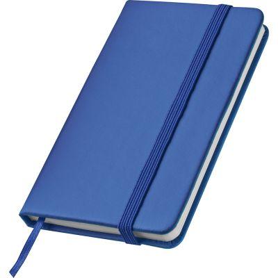 Notizbuch mit Lesebändchen und Gummibandverschluss blau