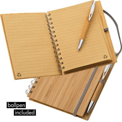 Notizbuch mit Bambuscover braun