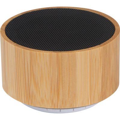 Bluetooth Lautsprecher mit Bambusummantelung beige