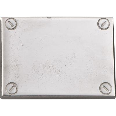 Click/Klebe Plättchen in silber (Kunststoff) für Rechner Einleger grau