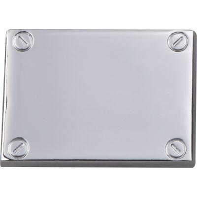 Click/Klebe Plättchen in silber (Edelstahl) für Rechner Einleger grau