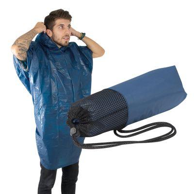 Phthalatfreier Regenponcho aus EVA dunkelblau